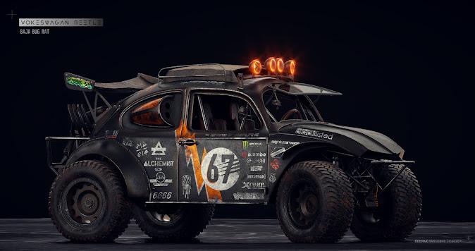 Zombie Bug-Out Baja Bug by Deepak Ransubhe
