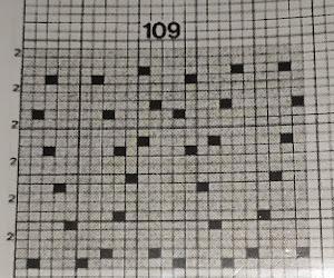 ажурный узор №109,схема,  каталог узоров Stitch World