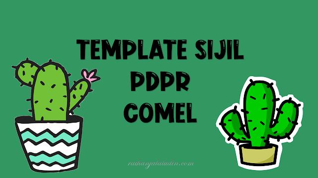 Template Sijil PdPR Comel