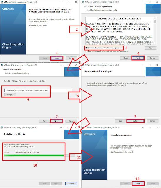 Asistente de instalación VMware Client Integration.