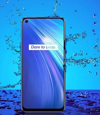 هاتف Realme 6 مقاوم لرذاذ الماء