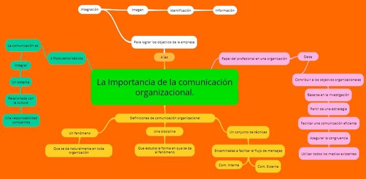 Mapa Mental importancia de la comunicación organizacional