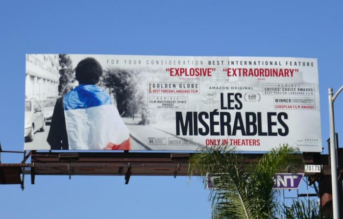 Les Misérables For consideration billboard