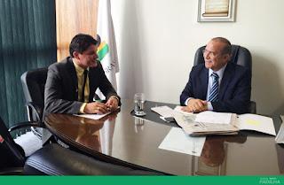 Eliseu Padilha recebe o presidente da FUG-MA, Assis Filho