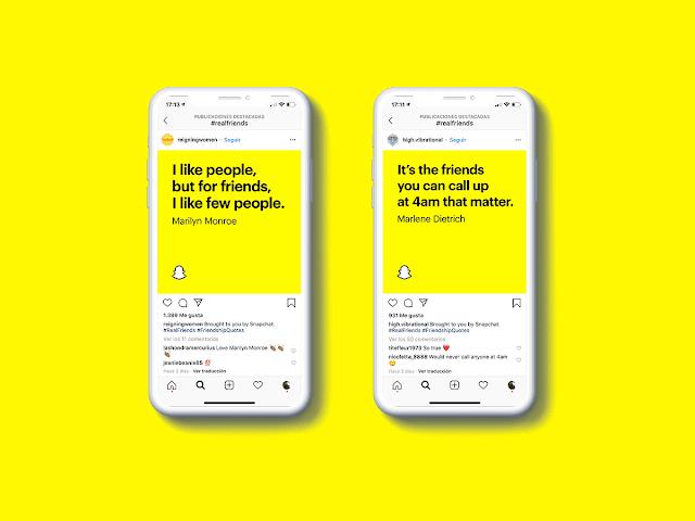 Amigos-de-verdad-campaña-Snapchat-contra-instagram