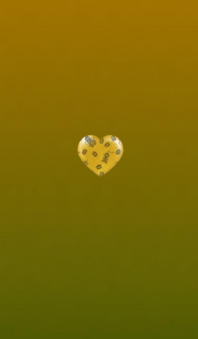 Coffee Heart Yellow