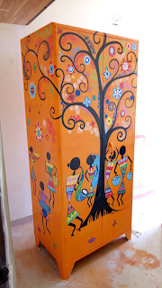 Old Cupboard Converted to a art piece