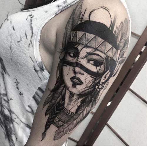 kadın üst kol dövme modelleri woman upper arm tattoo designs 4