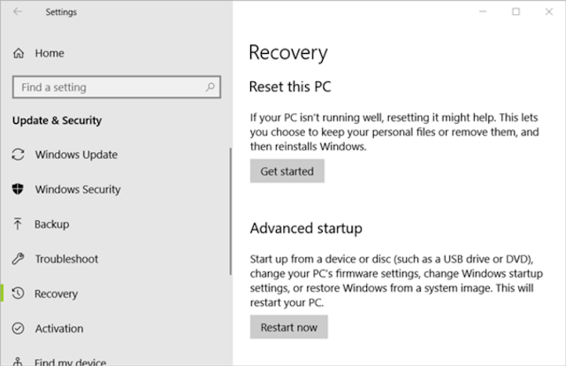 How to Format Computer and Reset Windows 10 using CD or Recovery