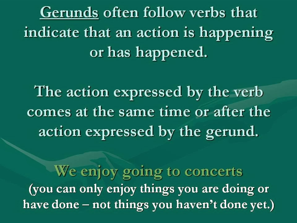 Gerund and Infinitive
