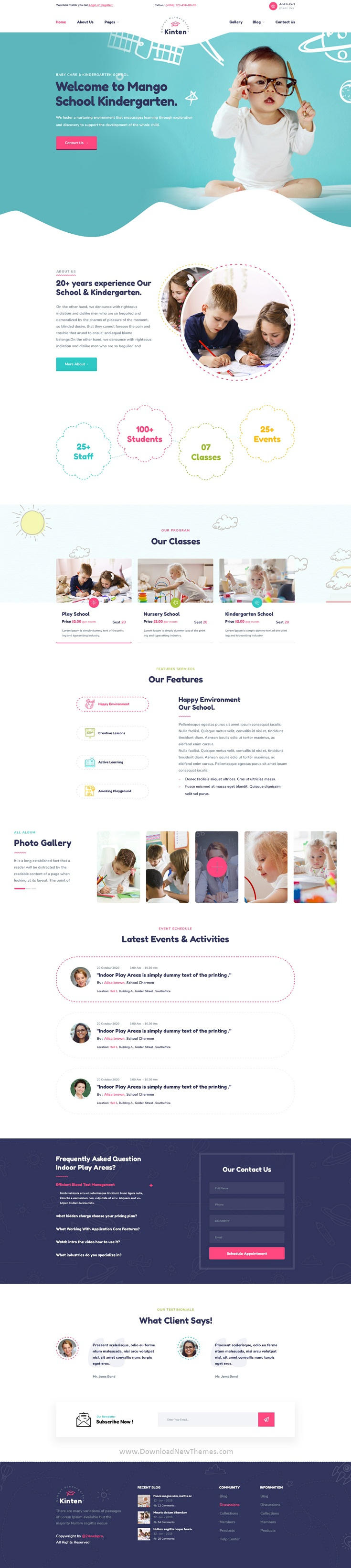 kindergarten & Play School PSD Template