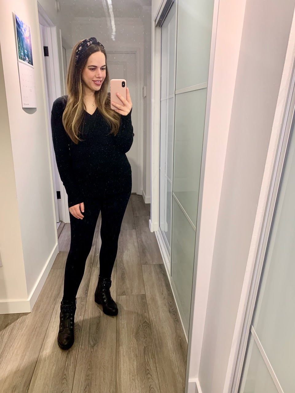 Jules in Flats - All Black Outfit (Business Casual Workwear on a Budget)