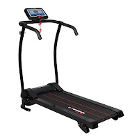 Confidence Power Trac Pro Motorized Electric Folding Treadmill, 600w motor, speeds from 0.6 to 6.2 mph, manual adjustable incline, 12 built-in workout programs