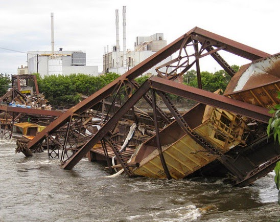CRANDIC Bridge failed with 15 rail cars