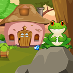 Games4King - Frog Rescue From The Rock