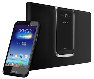 Asus PadFone E Specifications - LAUNCH Announced 2014, January DISPLAY Type Super IPS LCD capacitive touchscreen, 16M colors Size 4.7 inches (~62.6% screen-to-body ratio) Resolution 720 x 1280 pixels (~312 ppi pixel density) Multitouch Yes Protection Corning Gorilla Glass BODY Dimensions 139.6 x 69.7 x 9.1 mm (5.50 x 2.74 x 0.36 in) Weight 126 g (4.44 oz) SIM Dual SIM (dual stand-by) Features - Padfone Station with 10.1 inches Super IPS display, 1280 x 720 pixels, 181.5 x 263.6 x 17.4 mm, 525.7 g, 5000 mAh battery. PLATFORM OS Android OS, v4.3 (Jelly Bean) CPU Quad-core 1.4 GHz Cortex-A7 Chipset Qualcomm Snapdragon 400 GPU Adreno 305 MEMORY Card slot microSD, up to 64 GB (dedicated slot) Internal 1 GB RAM CAMERA Primary 13 MP, autofocus, LED flash Secondary 1.2 MP, 720p Features Geo-tagging, touch focus, face detection Video 1080p@30fps, 720p@60fps NETWORK Technology GSM / HSPA 2G bands GSM 850 / 900 / 1800 / 1900 3G bands HSDPA 850 / 900 / 1900 / 2100 Speed HSPA GPRS Yes EDGE Yes COMMS WLAN WLAN Wi-Fi 802.11 b/g/n GPS Yes, with A-GPS, GLONASS USB microUSB v2.0 Radio  Bluetooth v4.0, A2DP FEATURES Sensors Accelerometer, proximity, compass Messaging SMS(threaded view), MMS, Email, Push Email, IM Browser HTML5 Java No SOUND Alert types Vibration; MP3, WAV ringtones Loudspeaker Yes 3.5mm jack Yes  - Active noise cancellation with dedicated mic BATTERY  Non-removable Li-Ion 1820 mAh battery Stand-by Up to 270 h (2G) / Up to 330 h (3G) Talk time Up to 27 h (2G) / Up to 15 h (3G) Music play  MISC Colors Black, White  - ASUS WebStorage (5 GB storage) - MP3/WAV/eAAC+ player - MP4/H.264 player - Document viewer - Photo viewer/editor - Voice memo/dial