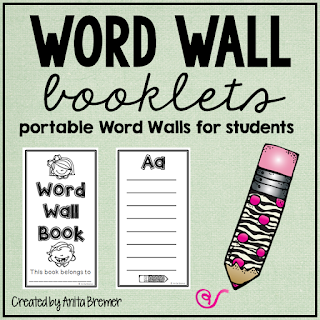 Portable word books for students to fill in words they know or need to learn- great for a writing center!
