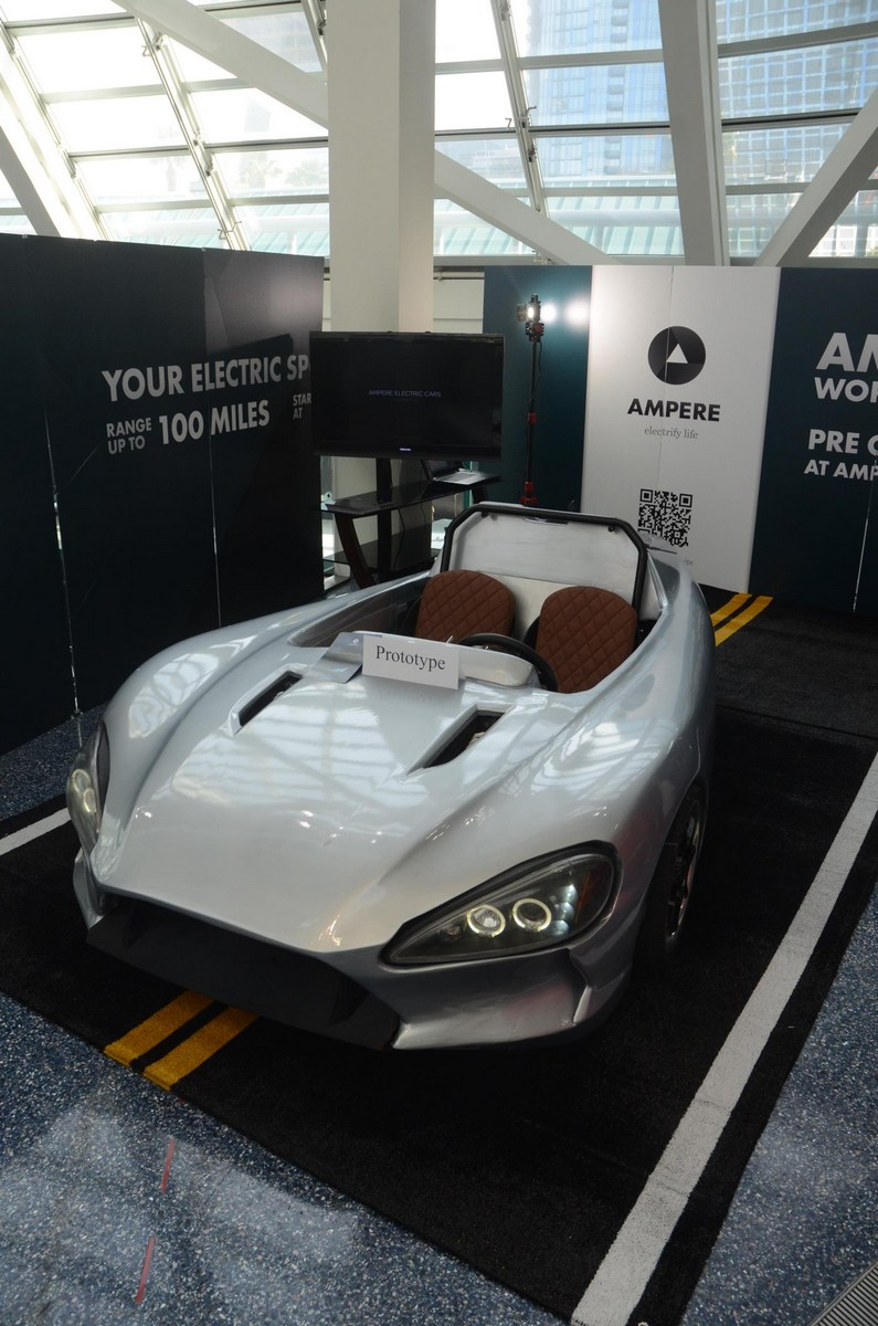 Kid Electric Car >> Ampere Motor's New $9,900 Electric Three-Wheeler Roadster | Carscoops