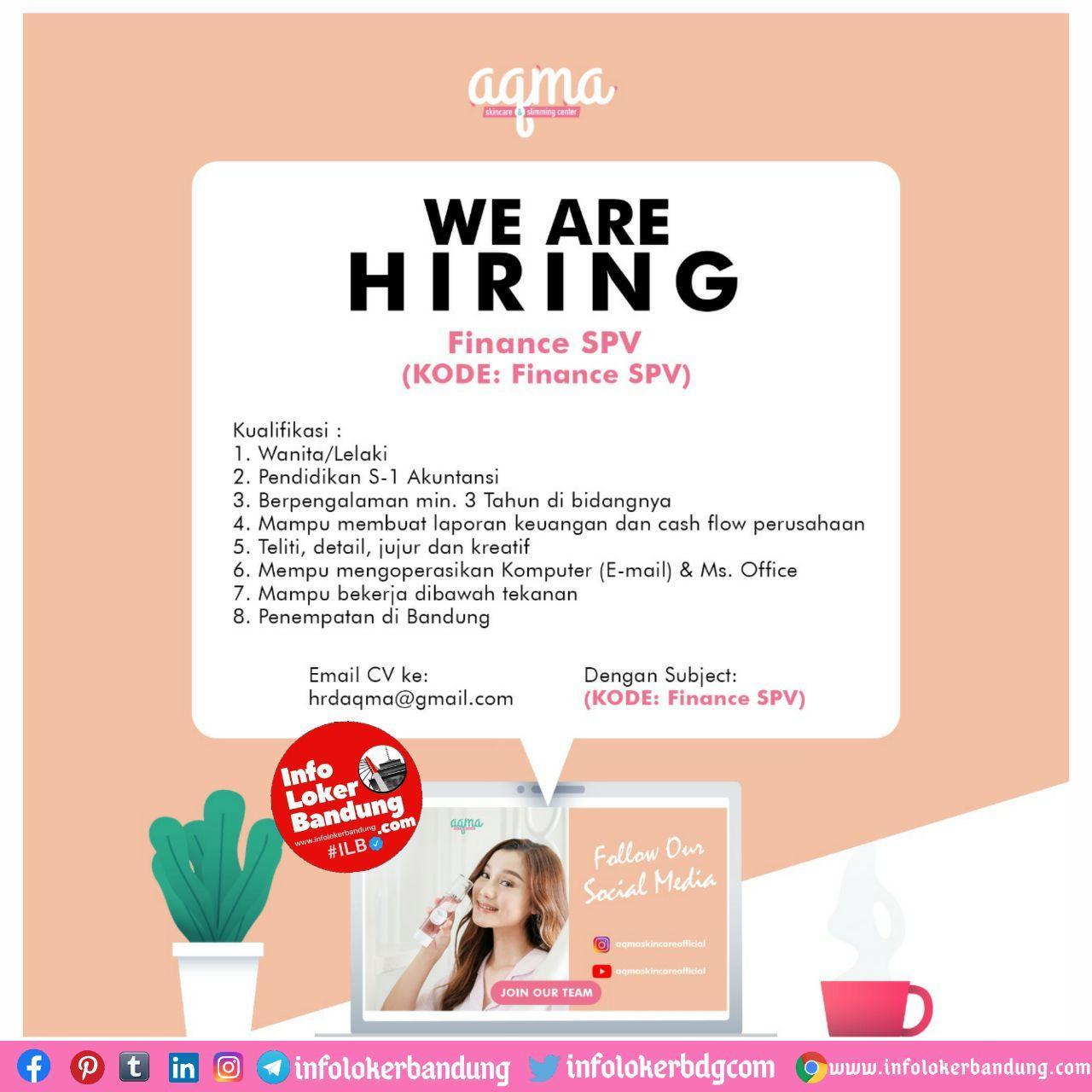 Lowongan Kerja Aqma Skincare Bandung Oktober 2020