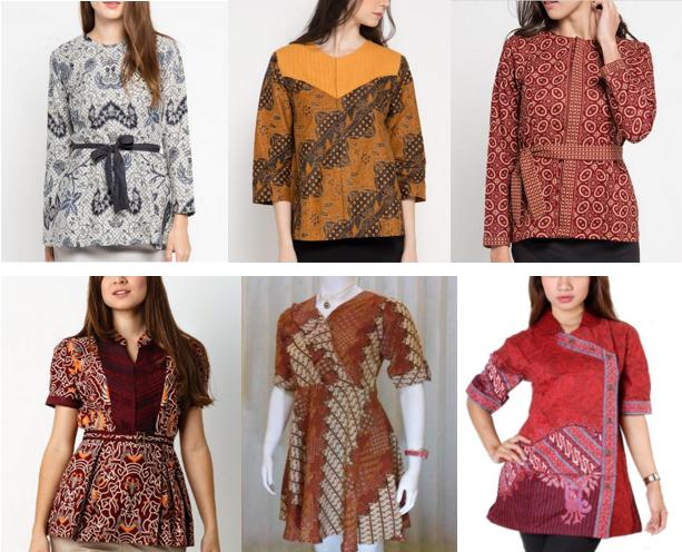 Model Baju Batik Wanita Lengan Panjang & Pendek