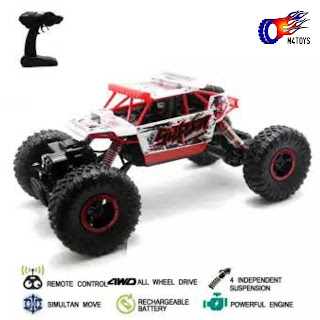 RC MOBIL OFFROAD CLIMBING CAR LEADER SCALE 1:18 4WD 2.4Ghz PUTIH