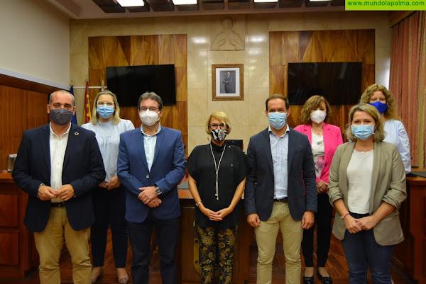 Visita de la consejera de Economía, Conocimiento y Empleo del Gobierno de Canarias