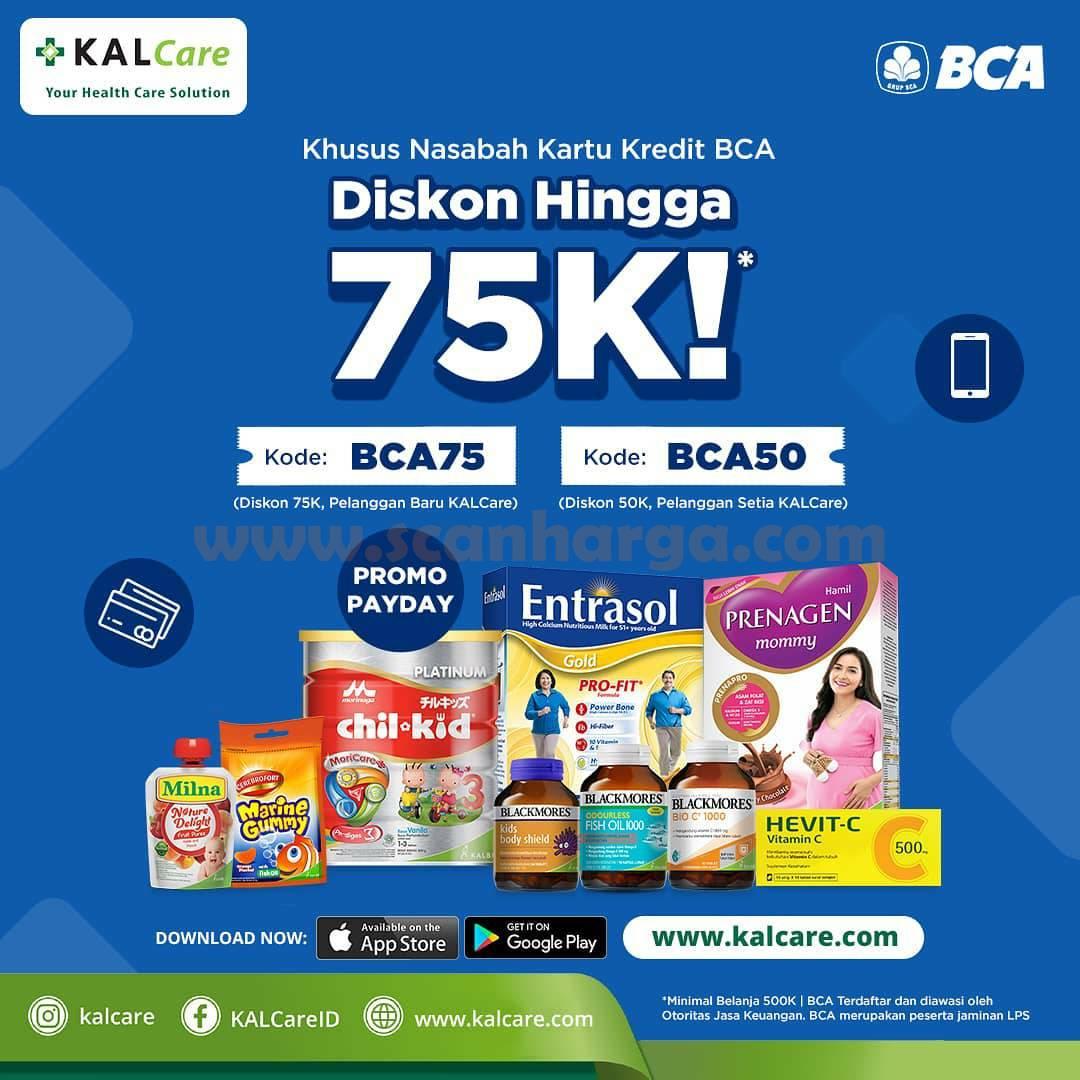 KALCare Promo Payday Diskon 75Ribu dengan Kartu Kredit BCA