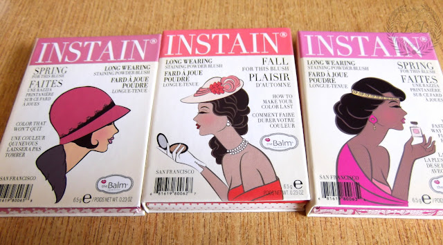THEBALM COSMETICS - Instain Long Wearing Staining Powder Blush.LACE,HOUNDSTOOTH,SWISS DOT