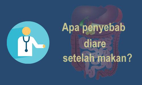 Penyebab diare setelah makan