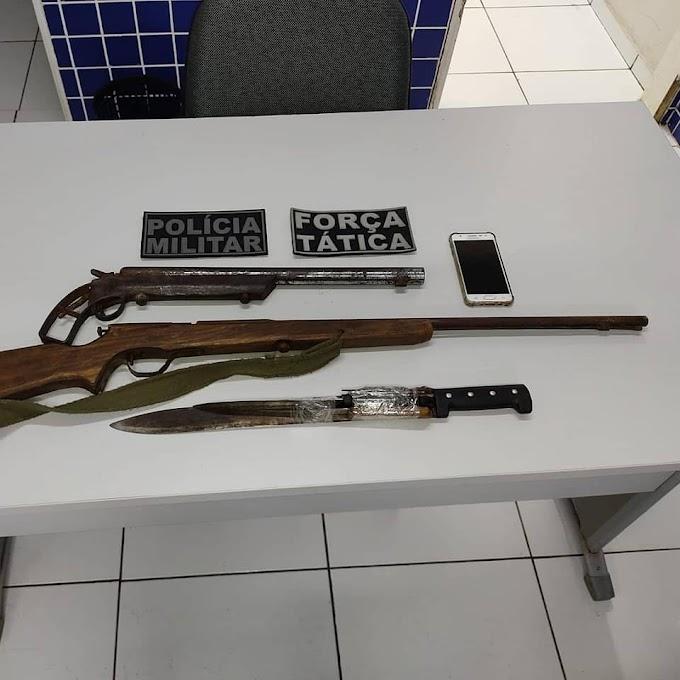 PM-PI prende suspeito de roubos em Elesbão Veloso