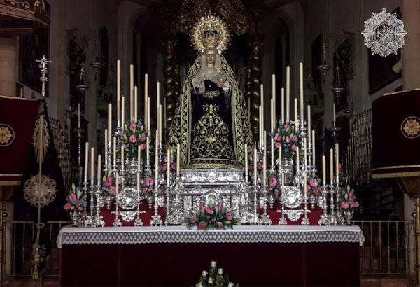 La Virgen de Los Javieres de Sevilla expuesta a veneración de los fieles por los 75 años de su bendición