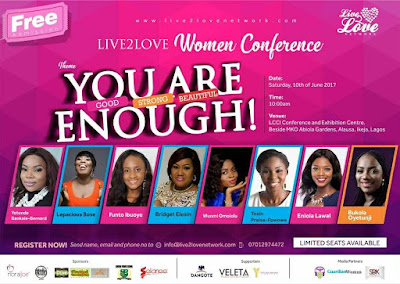 Have you registered for Live2love Women Conference?
