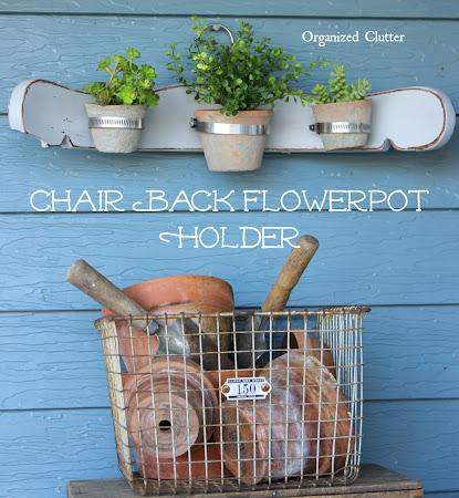 Chair Back Flower Pot Holder