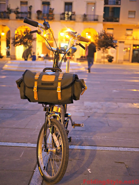 Carradice Barley Bag for Brompton - Modified Front Carrier Frame