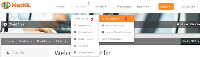 Cara Beli Domain Hosting Murah Untuk Wordpress Di NetKL