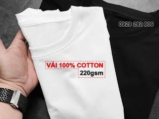 Vải cotton 100% 220gsm