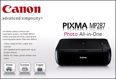 Driver Printer Canon MP287 Scanner Download Gratis