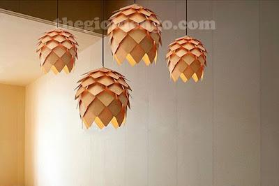Thế Giới Đèn Gỗ - Đèn gỗ trang trí quả dứa 9