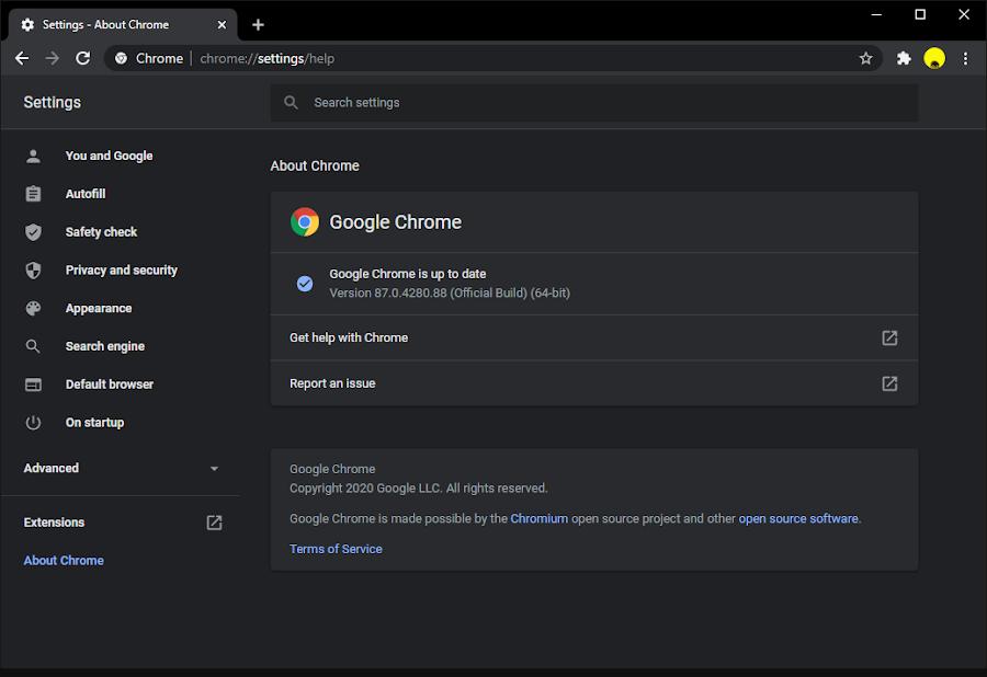Mengecek Versi Chrome
