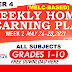 WEEK 2 Weekly Home Learning Plan Q4 GRADES 1-10