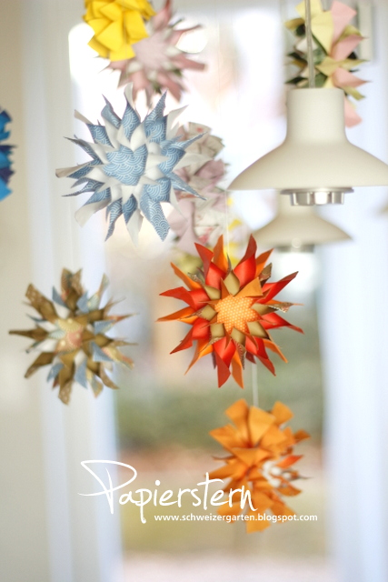 basteln mit kindern gemusegarten bild, ein schweizer garten: buntes papierstern-mobile #10, Design ideen