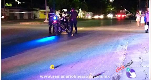 """Disparan contra mujer en la colonia """"Ejido' de Playa del Carmen por aparente robo"""