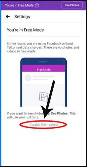 Cara Memunculkan Mode Gratis di FB Lite
