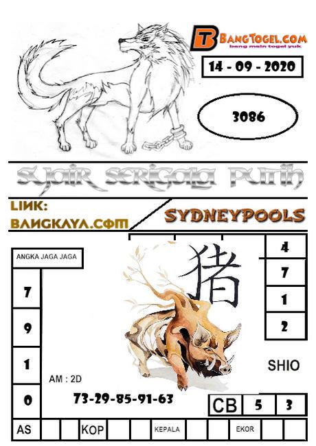 Kode syair Sydney Senin 14 September 2020 222