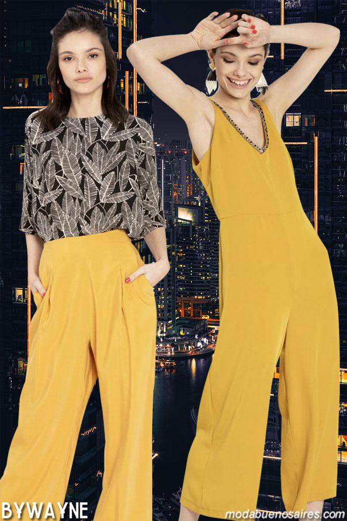 Monos, pantalones y blusas primavera verano 2020 moda mujer.