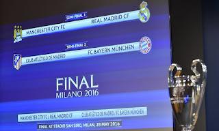 Hasil Undian Semifinal Liga Champions: City vs Madrid, Bayern vs Atletico