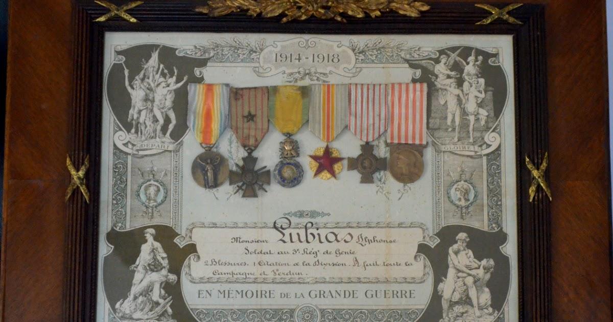 « En Mémoire de la Grande Guerre 1914 – 1918 » : le cadre commémoratif d'un ancien combattant