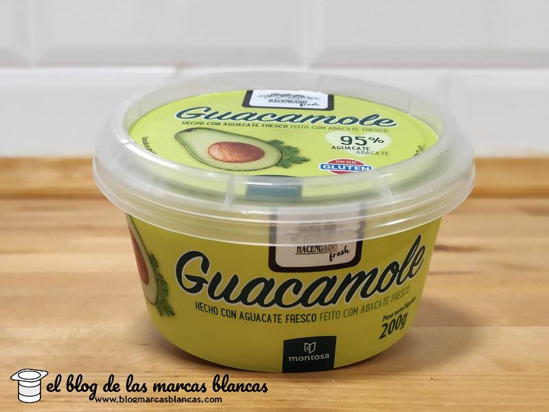 Guacamole hecho con 95% de aguacate fresco Hacendado Fresh de Mercadona en el blog de las marcas blancas.