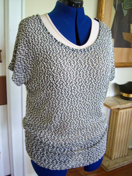 Renee C - Emi Marled Knit Short-sleeve Top