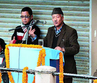 Harka Bahadur Chhetri addresses public meeting in Mirik